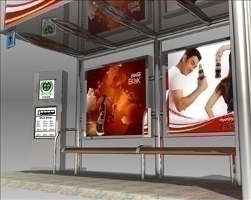 bus stop shelter coke brand 3d model 3ds max obj 110418