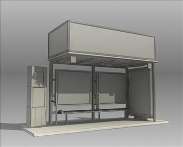 bus stop shelter coke brand 3d model 3ds max obj 110422