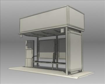 bus stop shelter coke brand 3d model 3ds max obj 110423