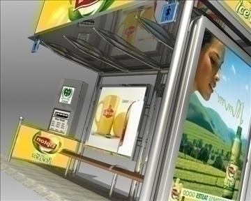 autobusno stajalište lipton marka 3d model 3ds max obj 99750
