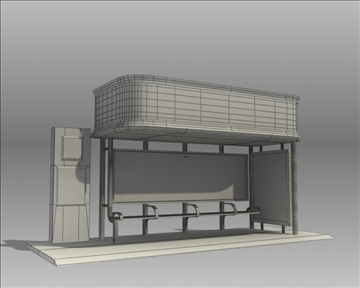 bus stop shelter nokia brand 3d model 3ds max obj 99771