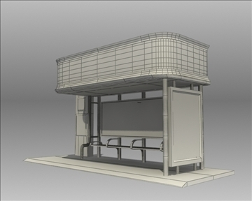 bus stop shelter nokia brand 3d model 3ds max obj 99772