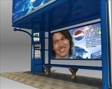 bus stop shelter pepsi brand 3d model 3ds max obj 99757