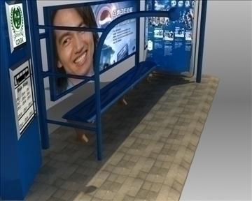 автобуска станица засолниште pepsi бренд 3d модел 3ds макс обј 99758