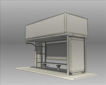 bus stop shelter pepsi brand 3d model 3ds max obj 99762