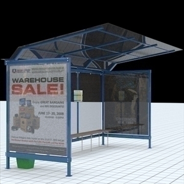 Busstop 2 3d मॉडल मिश्रण lwo lxo बनावट obj 111464