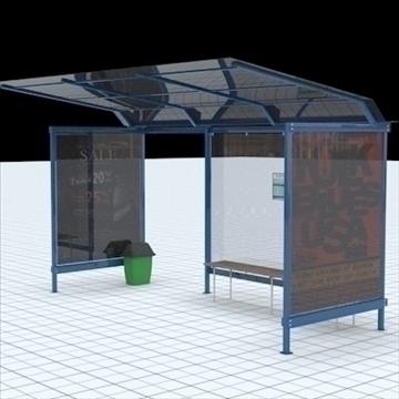 busstop 2 3d model blend lwo lxo texture obj 111465