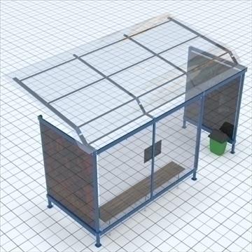 busstop 2 3d model blend lwo lxo texture obj 111466