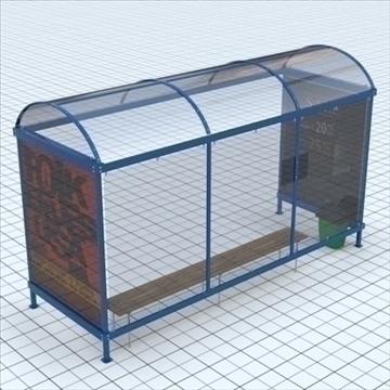 busstop 3d model mješavina lwo lxo tekstura obj 111449