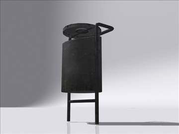dustbin a 3d model 3ds max obj 112111