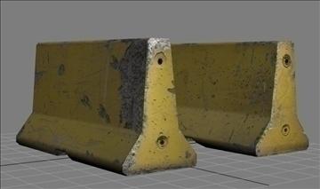 jersey barrier 3d model max obj 108953