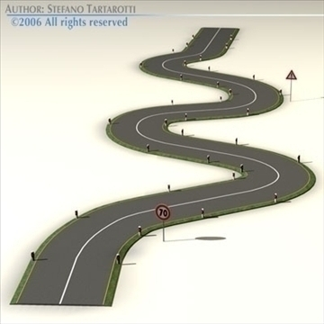 road with curves 3d model 3ds dxf c4d obj 81047