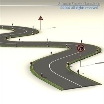 road with curves 3d model 3ds dxf c4d obj 81048