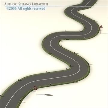 road with curves 3d model 3ds dxf c4d obj 81050