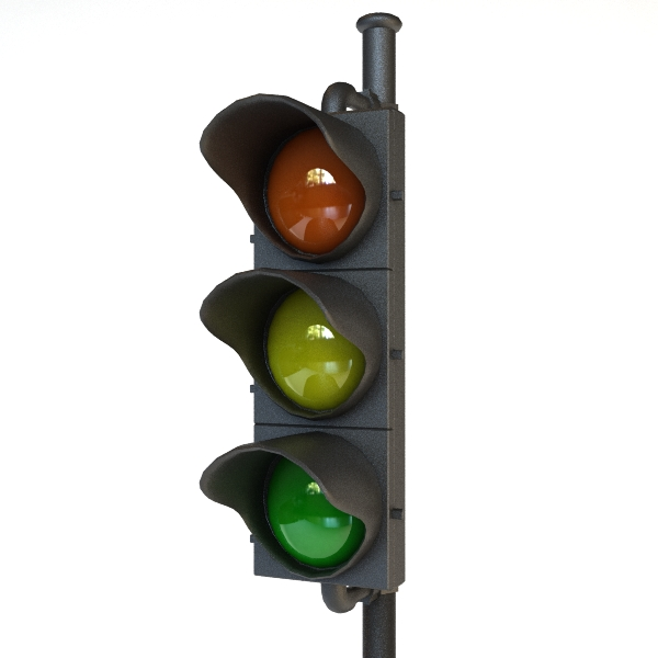 traffic light 3d model 3ds max fbx obj 114730