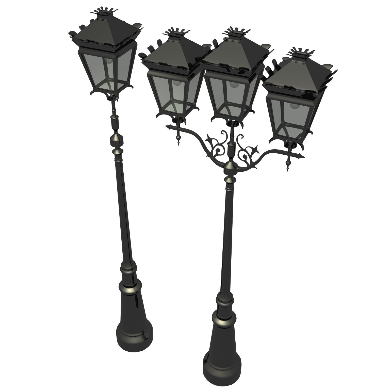 antique streetlight set 3d model ma mb flt 119132