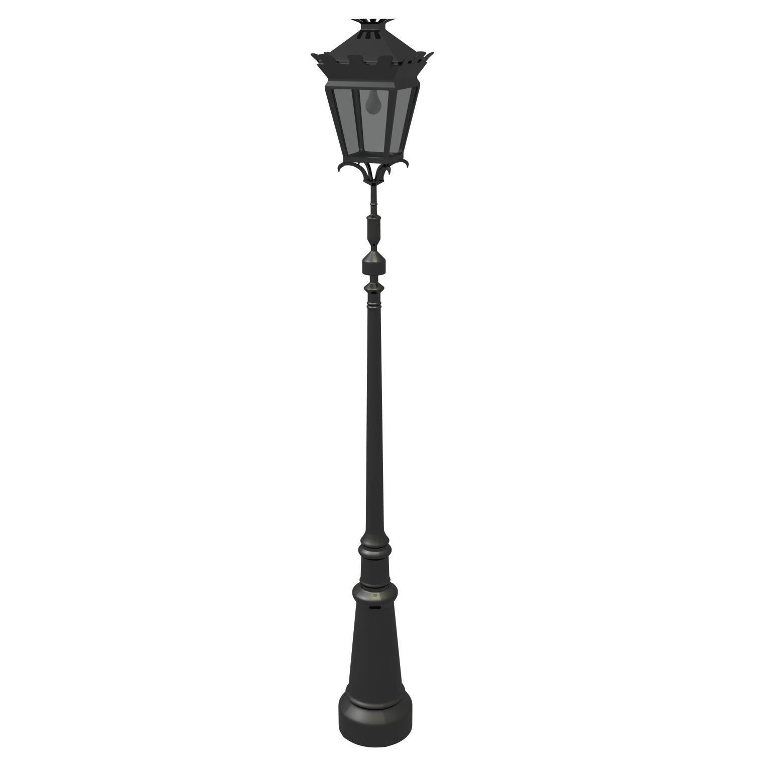 ulična lampa 3d model ma mb obj 119122