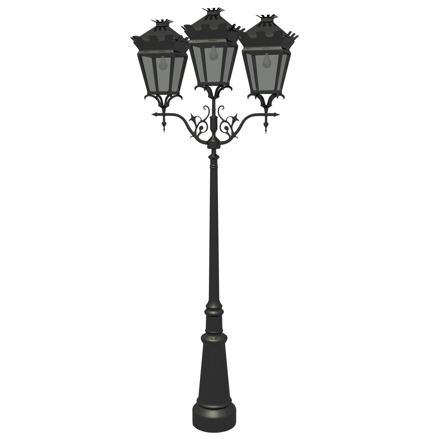 street lamp v2 3d model ma mb obj 119126