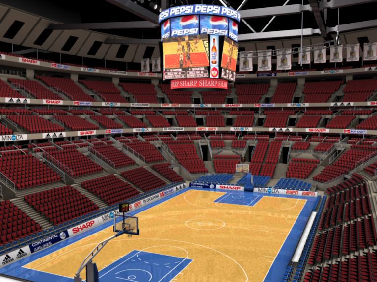 basketball arena with detailes 3d modelo 3ds max fbx c4d lwo ma mb obj 160009