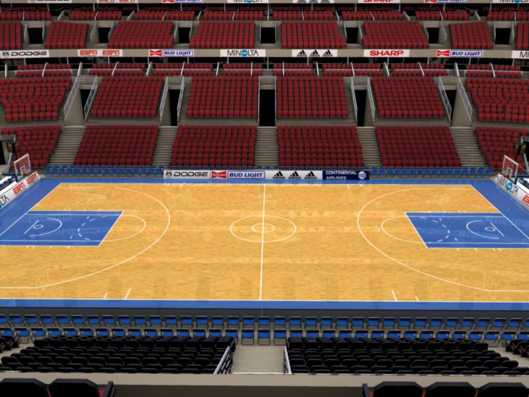 basketball arena with detailes 3d model 3ds max fbx c4d lwo ma mb obj 160013