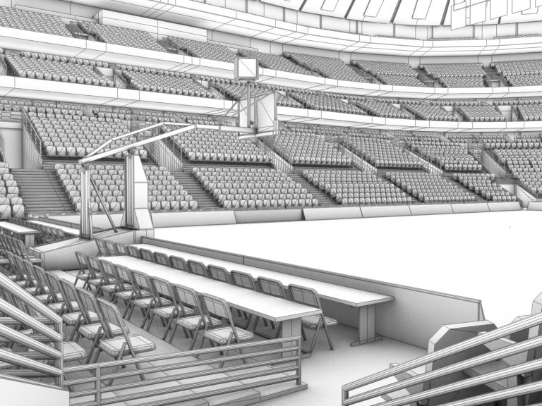 basketball arena with detailes 3d model 3ds max fbx c4d lwo ma mb obj 160020