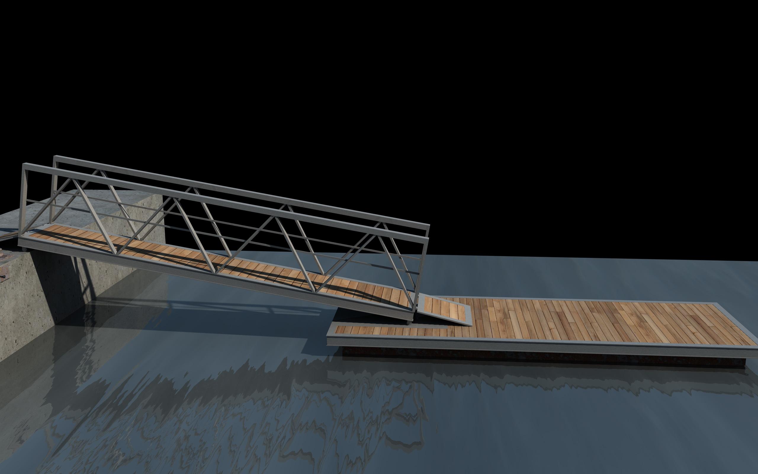 boat pier dock 3d model 3ds dxf fbx c4d skp obj 148407