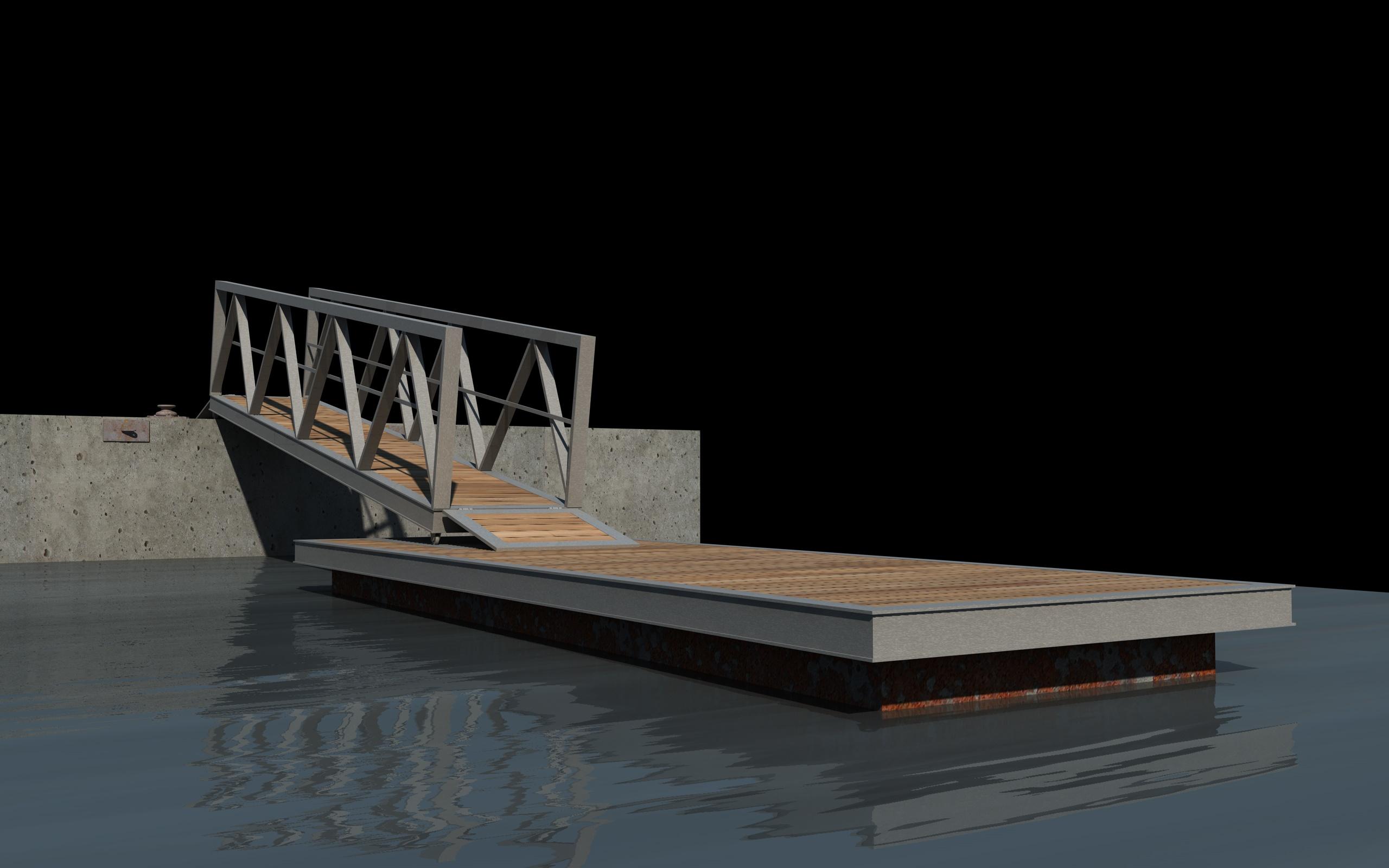 boat pier dock 3d model 3ds dxf fbx c4d skp obj 148408