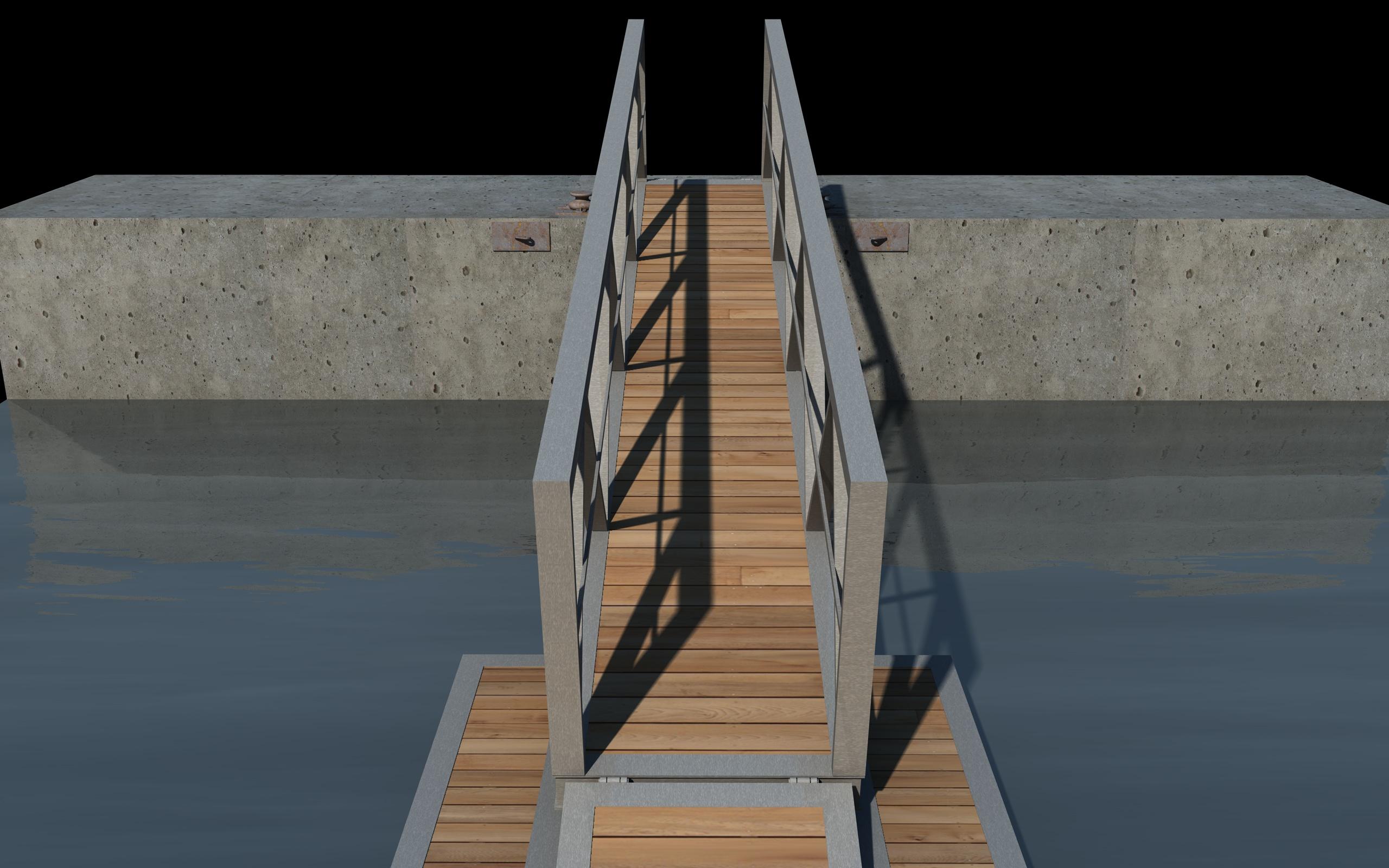 boat pier dock 3d model 3ds dxf fbx c4d skp obj 148413