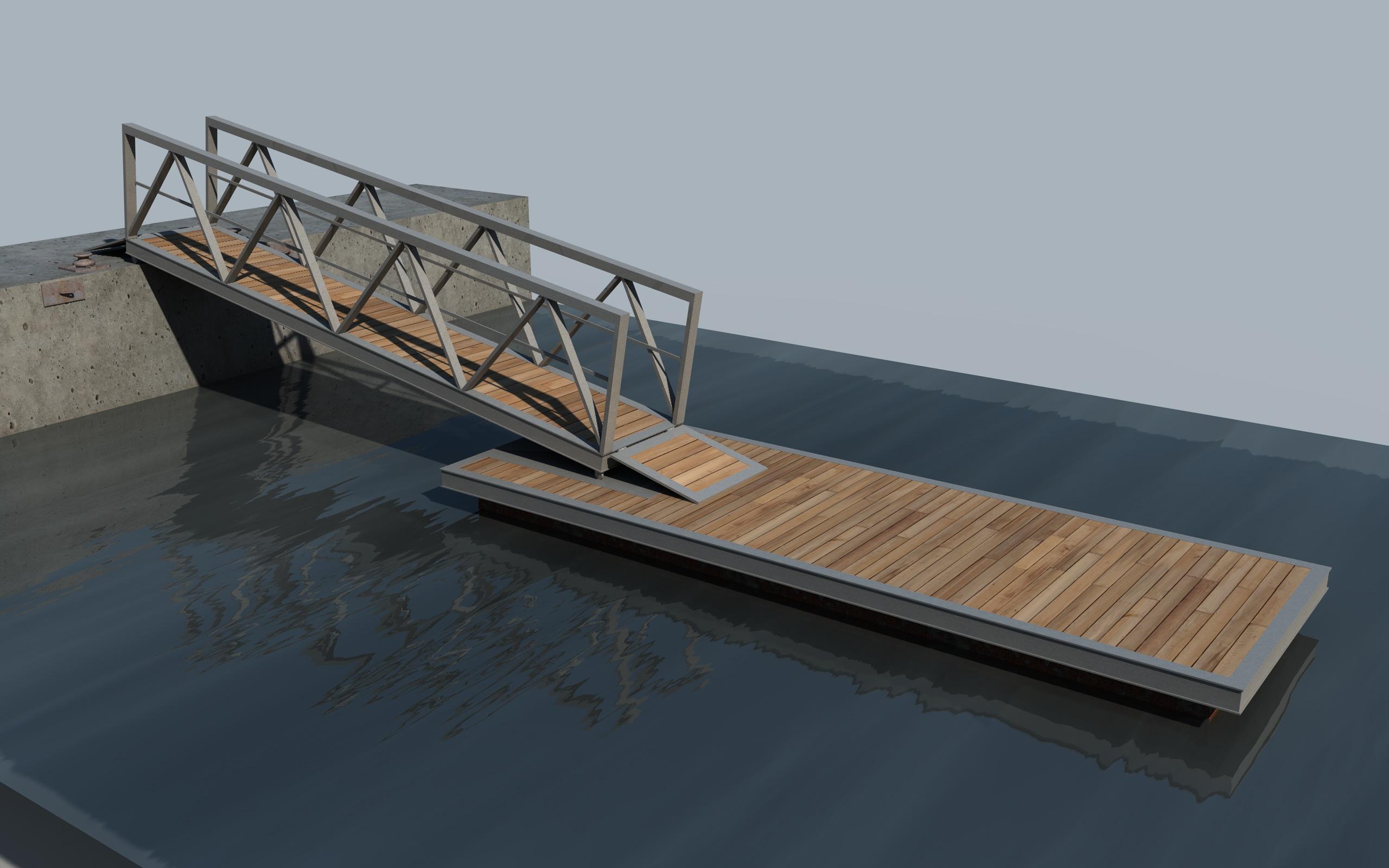 boat pier dock 3d model 3ds dxf fbx c4d skp obj 148415