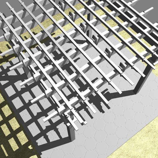 pergola 2 freestanding 3d model 3ds dxf cob x obj 139100
