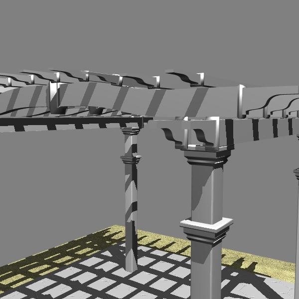pergola 2 freestanding 3d model 3ds dxf cob x obj 139101