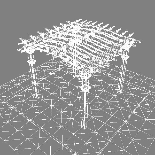 pergola 2 freestanding 3d model 3ds dxf cob x obj 139102