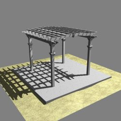 Pergola 2 Freestanding ( 192.09KB jpg by VisualMotion )