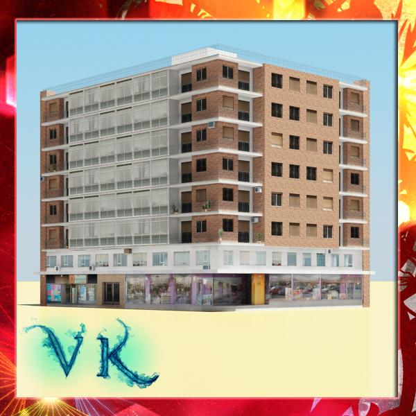 photorealistic low poly building 3d model max fbx obj 148619