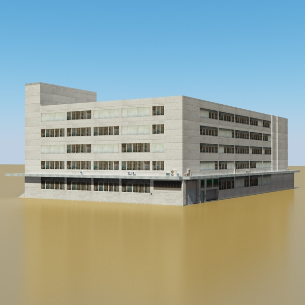 photorealistic low poly office building 2 3d model 3ds max obj 148638