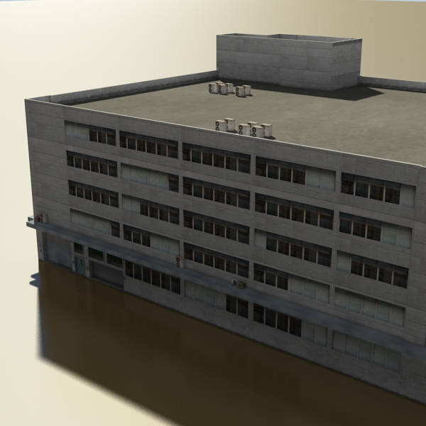 photorealistic low poly office building 2 3d model 3ds max obj 148640