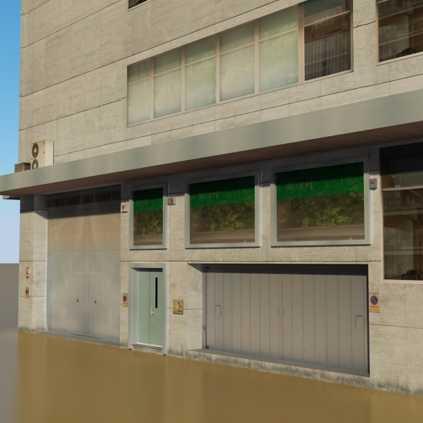 photorealistic low poly office building 2 3d model 3ds max obj 148643