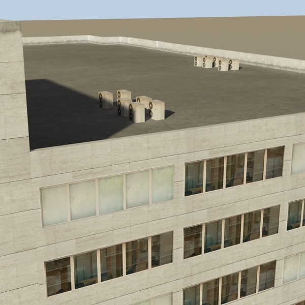 photorealistic low poly office building 2 3d model 3ds max obj 148644