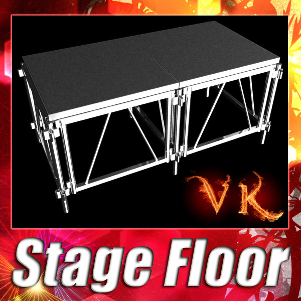 stage floor platform 3d model 3ds max fbx obj 131102