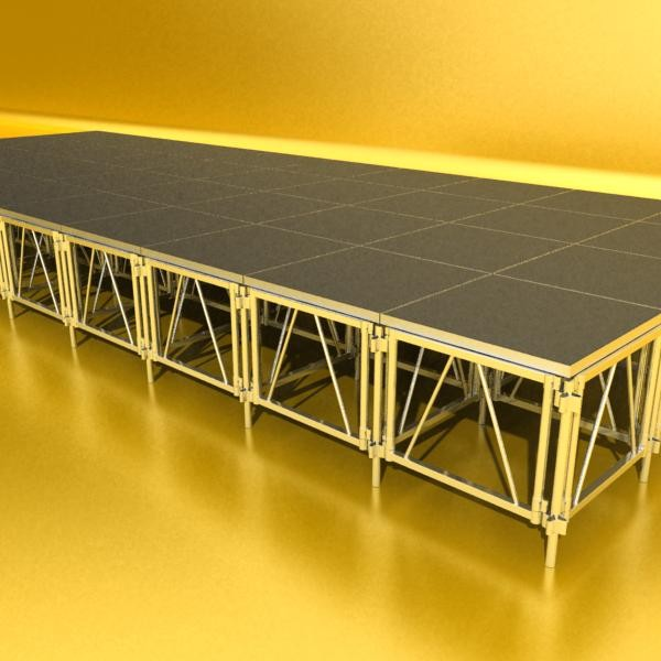 stage floor platform 3d model 3ds max fbx obj 131103