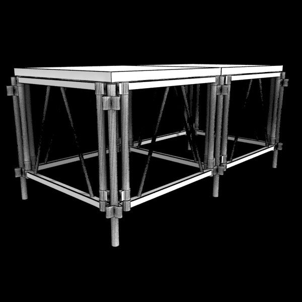 stage floor platform 3d model 3ds max fbx obj 131110