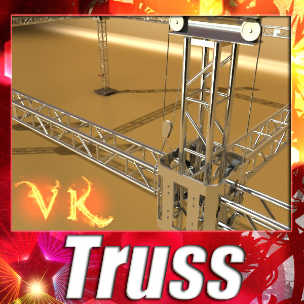 truss system high detail 2.0 3d model max fbx obj 131005