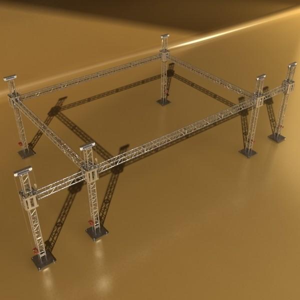 truss system high detail 2.0 3d model max fbx obj 131015