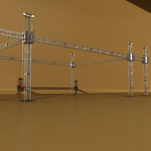 truss system high detail 2.0 3d model max fbx obj 131016