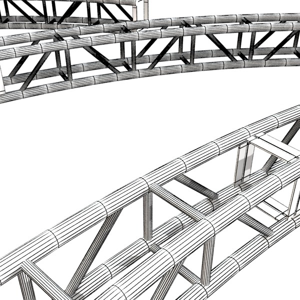 truss system high detail 2.0 3d model max fbx obj 131036