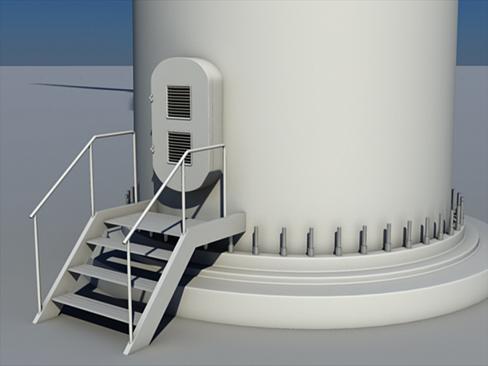 wind turbine land 3d model 3ds max lwo obj 158798