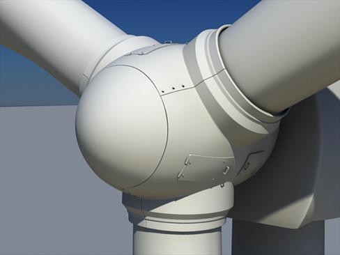 wind turbine land 3d model 3ds max lwo obj 158799