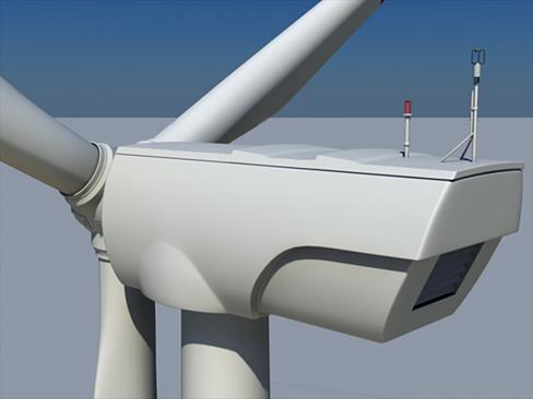 wind turbine land 3d model 3ds max lwo obj 158800