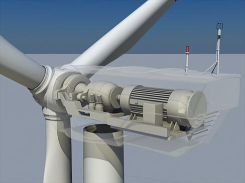 wind turbine land 3d model 3ds max lwo obj 158803