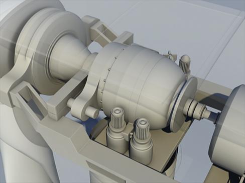 wind turbine land 3d model 3ds max lwo obj 158805